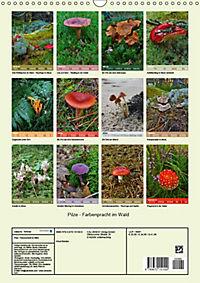 Pilze - Farbenpracht im Wald (Wandkalender 2019 DIN A3 hoch) - Produktdetailbild 13