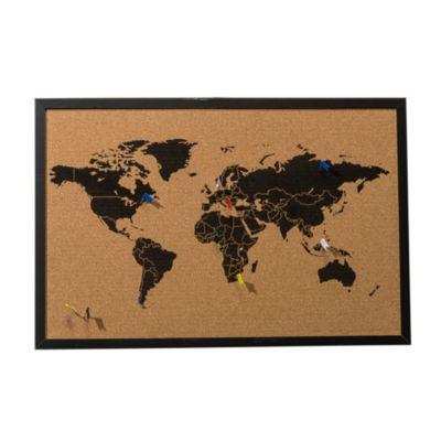 Pinnwand Weltkarte Schwarz