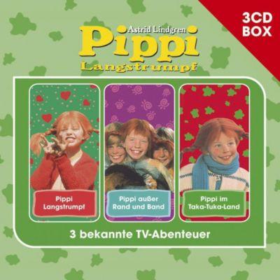 Pippi Langstrumpf - 3-CD Hörspielbox, 3 Audio-CDs, Astrid Lindgren