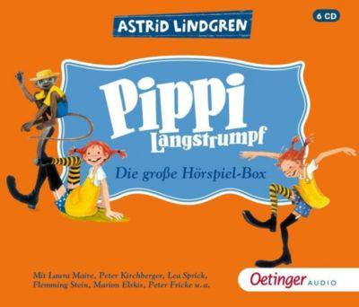 Pippi Langstrumpf - Die grosse Hörspielbox, 6 Audio-CDs, Astrid Lindgren
