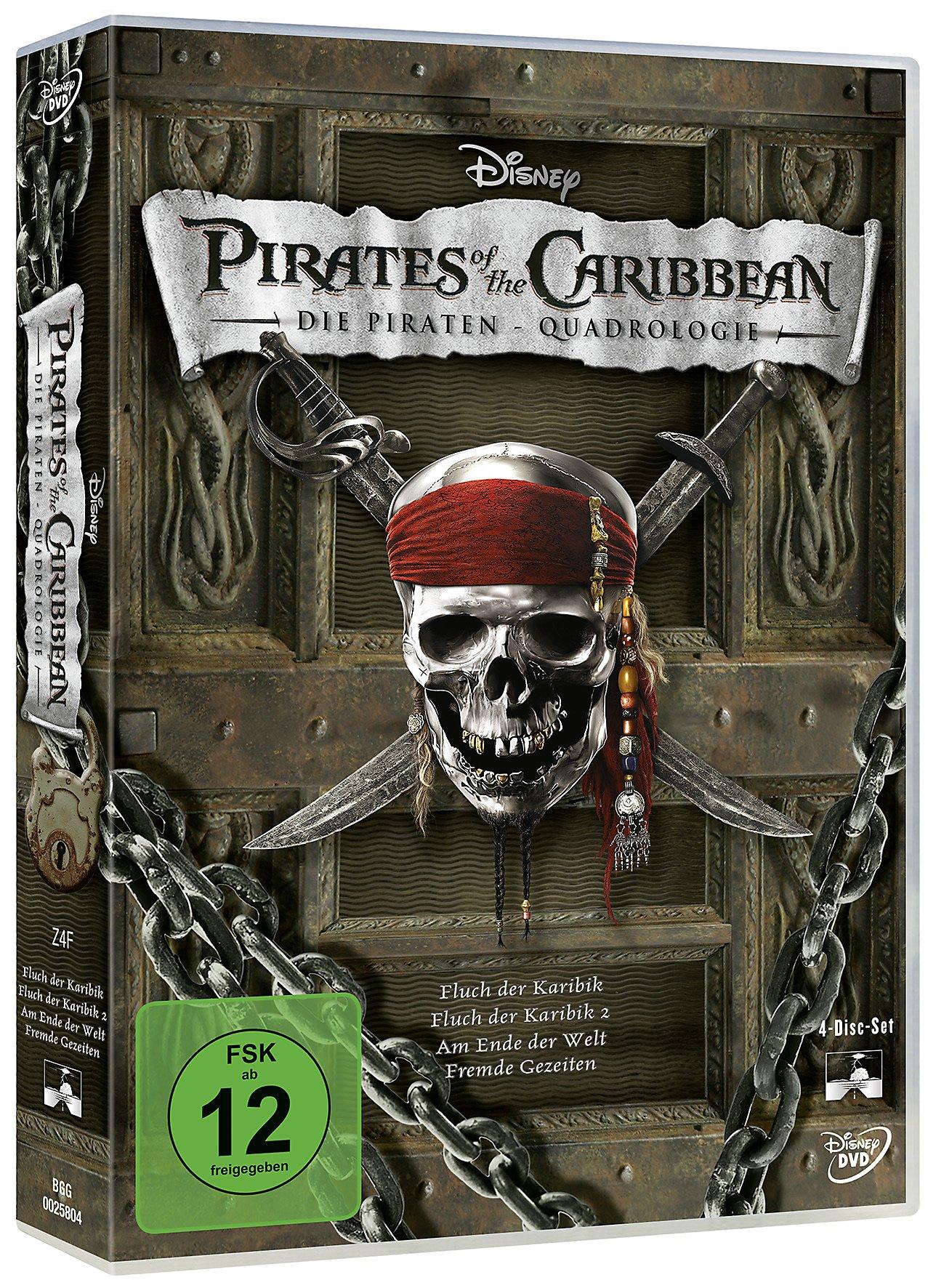 Pirates Of The Caribbean 1 4 Box Dvd Bei Weltbildde Bestellen