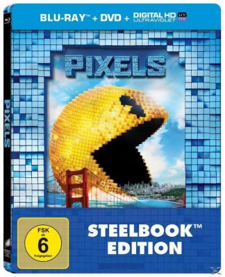 Pixels - limitiertes Steelbook DVD + Blu-ray