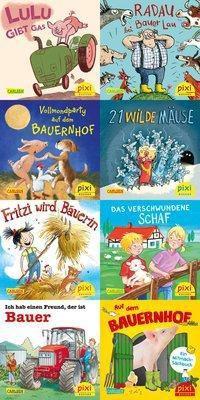 Pixi Bücher: .253 Pixis Abenteuer auf dem Bauernhof, 8 Hefte