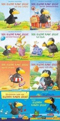 Pixi Bücher: Serie.193 Pixi-Buch 1736-1743 (Der kleine Rabe Socke), 8 Hefte