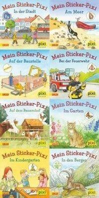 Pixi Bücher: Serie.199 Pixi-Buch 1795-1802 (Meine Sticker-Pixis), 8 Hefte