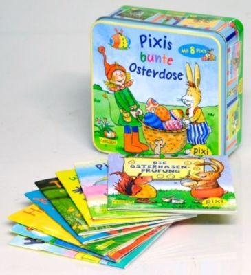 Pixis bunte Osterdose mit 8 Pixis