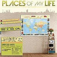 staaten europas zum pinnen auf wabenplatte planokarte buch. Black Bedroom Furniture Sets. Home Design Ideas