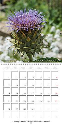 Plants close-up (Wall Calendar 2019 300 × 300 mm Square) - Produktdetailbild 1
