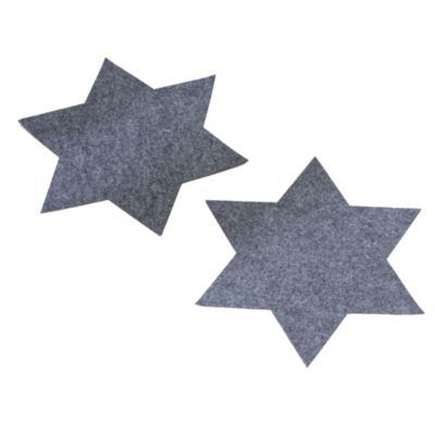 Platzmatten-Set Stern Filz 2. tlg. Grau