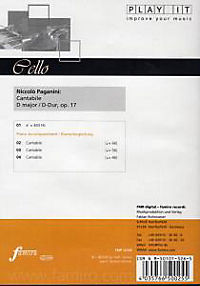 Play It - Lern-CD für Cello: Cantabile D-Dur Op. 17 - Produktdetailbild 1