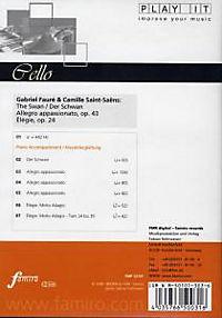 Play It - Lern-CD für Cello: Der Schwan / Allegro Appassiona - Produktdetailbild 1