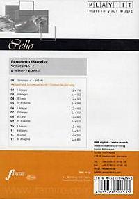Play It - Lern-CD für Cello: Sonata Nr. 2 E-Moll - Produktdetailbild 1