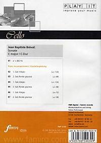Play It - Lern-CD für Cello: Sonate C-Dur - Produktdetailbild 1