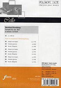 Play It - Lern-CD für Cello: Sonate Nr. 4 Op. 38,1 E-Moll - Produktdetailbild 1