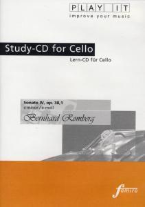 Play It - Lern-CD für Cello: Sonate Nr. 4 Op. 38,1 E-Moll, Diverse Interpreten