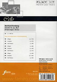 Play It - Lern-CD für Cello: Sonate Nr. 6 Op. 38,3 B-Dur - Produktdetailbild 1