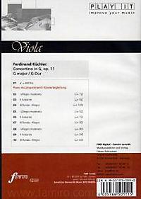 Play It - Lern-CD für Viola: Concertino In G, Op. 11 G-Dur - Produktdetailbild 1