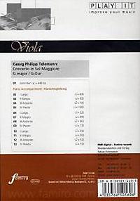 Play It - Lern-CD für Viola: Concerto In Sol Maggiore G-Dur - Produktdetailbild 1