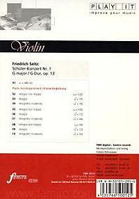 Play It - Lern-CD für Violine: Schüler-Konzert Nr. 1 G-Dur - Produktdetailbild 1
