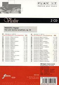 Play It - Lern-CD für Violine: Vier sehr leichte Sonatinen - Produktdetailbild 1