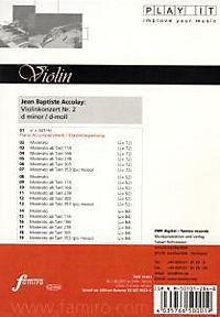 Play It - Lern-CD für Violine: Violinenkonzert Nr. 2 D-Moll - Produktdetailbild 1