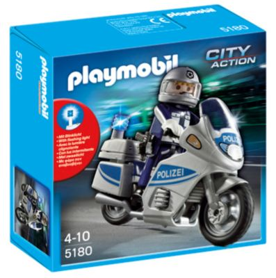PLAYMOBIL® 5180 City Action - Polizeimotorrad mit Blinklicht