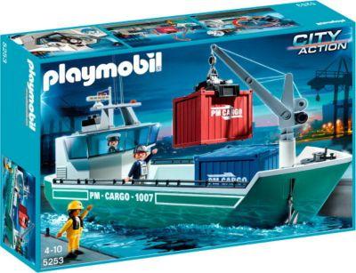 Playmobil 5253 Frachtschiff Mit Verladekran Weltbild Ch