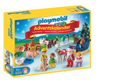 PLAYMOBIL 9009 - 1,2,3 Adventskalender Weihnacht auf dem Bauernhof