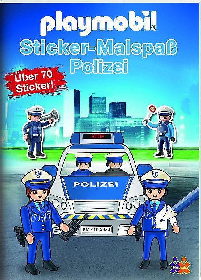 Playmobil Mein Sticker Malbuch Polizei Bestellen Weltbild De