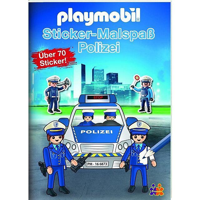 playmobil malvorlage polizei  malbild