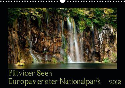 Plitvicer Seen - Europas erster Nationalpark (Wandkalender 2019 DIN A3 quer), Kirsten Karius, Kirsten und Holger Karius