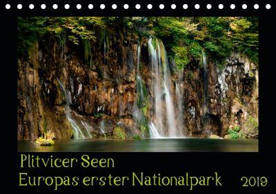 Plitvicer Seen - Europas erster Nationalpark (Tischkalender 2019 DIN A5 quer), Kirsten Karius, Kirsten und Holger Karius