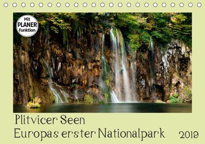 Plitvicer Seen - Europas erster Nationalpark (Tischkalender 2019 DIN A5 quer), Kirsten Karius