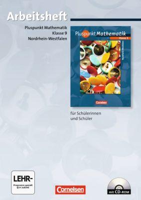 Pluspunkt Mathematik, Ausgabe Hauptschule Nordrhein-Westfalen: 9. Schuljahr, Arbeitsheft m. CD-ROM