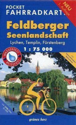Pocket Fahrradkarte Feldberger Seenlandschaft