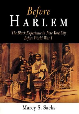 Politics and Culture in Modern America: Before Harlem, Marcy S. Sacks