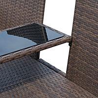 Polyrattan Gartenbank (Farbe: braun) - Produktdetailbild 6