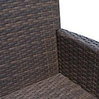 Polyrattan Gartenbank (Farbe: braun) - Produktdetailbild 7