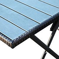 Polyrattan Gartengarnitur als 7-tlg. Set - Produktdetailbild 6