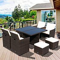 Polyrattan Gartenmöbel als 21-tlg. Set - Produktdetailbild 1