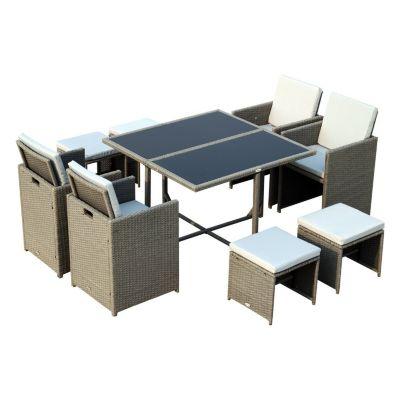 Polyrattan Sitzgruppe als 21-tlg. Set