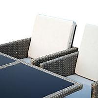 Polyrattan Sitzgruppe als 21-tlg. Set - Produktdetailbild 7