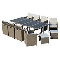 Polyrattan Sitzgruppe als 33-tlg. Set - Produktdetailbild 2