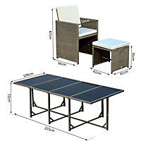 Polyrattan Sitzgruppe als 33-tlg. Set - Produktdetailbild 4
