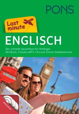 PONS Last minute Englisch, Buch, 3 Audio+MP3-CDs und Online-Vokabeltrainer, Claudia Heidieker, Simone Dias