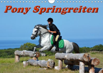 Pony Springreiten (Wandkalender 2019 DIN A4 quer), Anke van Wyk - www.germanpix.net