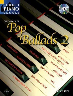 Pop Ballads, für Klavier, m. Audio-CD