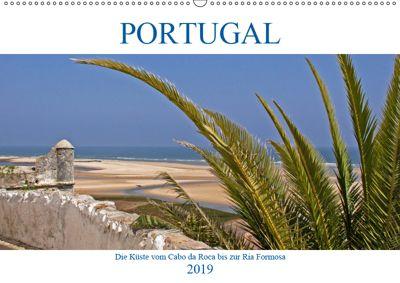 Portugal - Die Küste vom Cabo da Roca zur Ria Formosa (Wandkalender 2019 DIN A2 quer), Gisela Braunleder