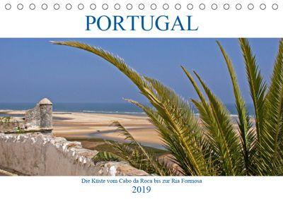 Portugal - Die Küste vom Cabo da Roca zur Ria Formosa (Tischkalender 2019 DIN A5 quer), Gisela Braunleder