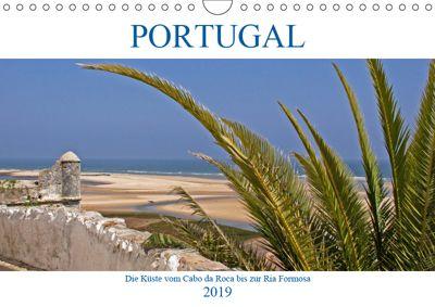 Portugal - Die Küste vom Cabo da Roca zur Ria Formosa (Wandkalender 2019 DIN A4 quer), Gisela Braunleder